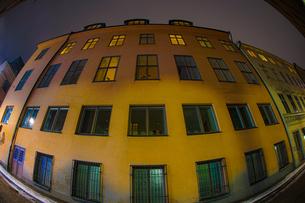 スウェーデン・ストックホルムの街並みと夜景の写真素材 [FYI03433552]