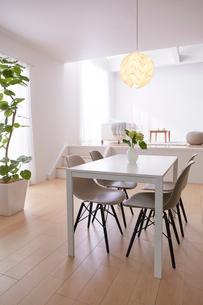 ステップフロアの広くてシンプルな部屋の写真素材 [FYI03433843]
