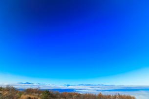 高ボッチ高原より北アルプスの山々と雲海の写真素材 [FYI03434214]