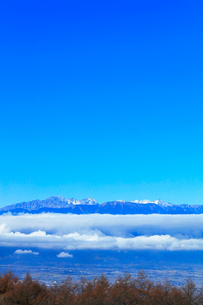 秋の高ボッチ高原より北アルプスの山々の写真素材 [FYI03434218]
