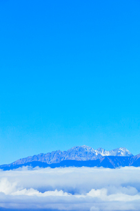 高ボッチ高原より穂高連峰と雲海の写真素材 [FYI03434219]