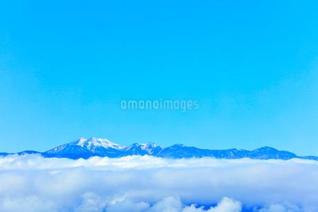 高ボッチ高原より乗鞍岳などの山々の写真素材 [FYI03434222]