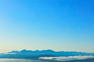 高ボッチ高原より南アルプスの山々の写真素材 [FYI03434233]