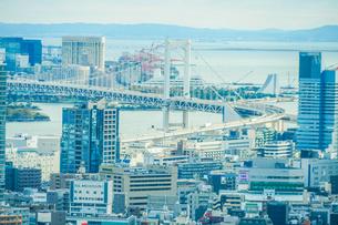東京タワー展望台から見える東京の街並みの写真素材 [FYI03434309]