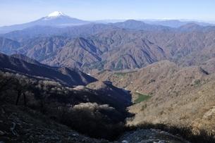 檜洞丸からの富士山の展望の写真素材 [FYI03434442]