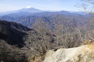 西丹沢から望む富士山の写真素材 [FYI03434476]