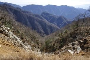 石棚山より望む檜岳山稜の写真素材 [FYI03434495]