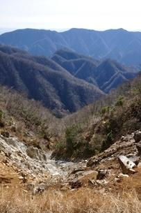 石棚山より望む檜岳山稜の写真素材 [FYI03434496]