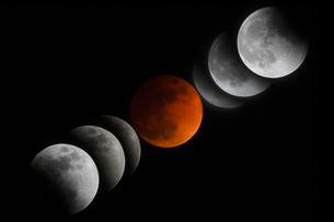 皆既月食の写真素材 [FYI03434573]