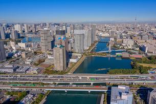 東京ウォーターフロントの空撮の写真素材 [FYI03434668]