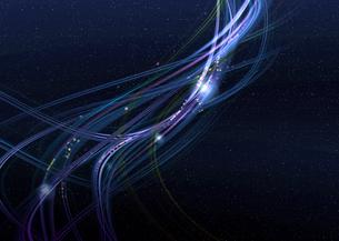 青紫色のアーティスティックな星空のグラフィックスのイラスト素材 [FYI03434862]