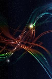 虹色のアーティスティックな星空のグラフィックスのイラスト素材 [FYI03434864]