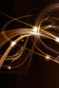 金色のアーティスティックな星空のグラフィックスのイラスト素材 [FYI03434865]