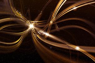 金色のアーティスティックな星空のグラフィックスのイラスト素材 [FYI03434866]