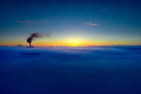 冬の空撮の写真素材 [FYI03434874]