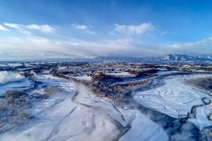 冬の空撮の写真素材 [FYI03434875]