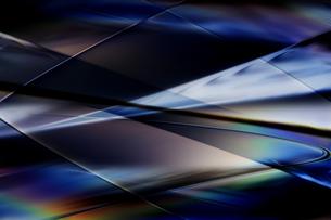 クールなガラス質感のメタリックなアブストラクトの写真素材 [FYI03434923]