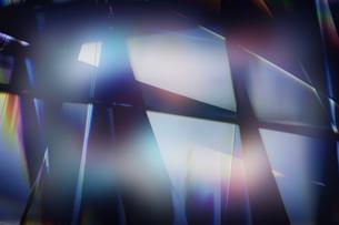 クールなガラス質感のメタリックなアブストラクトのイラスト素材 [FYI03434924]