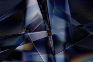クールなガラス質感のメタリックなアブストラクトのイラスト素材 [FYI03434927]