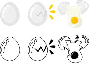 卵の可愛いアイコンのイラスト素材 [FYI03434938]