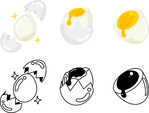 卵の可愛いアイコンのイラスト素材 [FYI03434940]