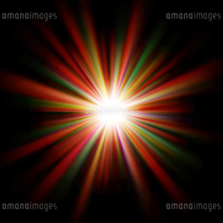カラフルな光のイラスト素材 [FYI03435773]