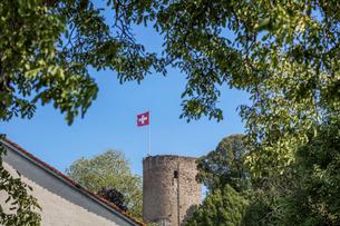 スイス、ジュネーブ郊外、エアマンスの風景の写真素材 [FYI03435776]