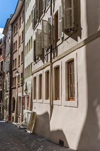 スイス、ジュネーブ旧市街の写真素材 [FYI03435785]