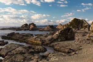 荒船海岸の岩場(和歌山県串本町)の写真素材 [FYI03436123]