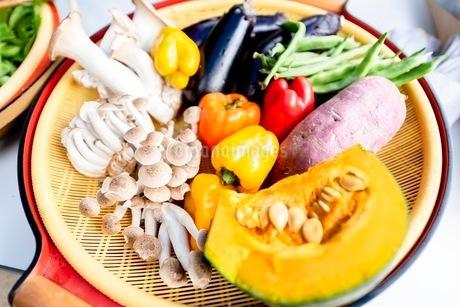料理に使う新鮮な野菜の写真素材 [FYI03436885]