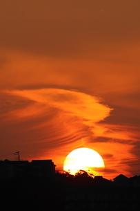 夕陽の写真素材 [FYI03437118]