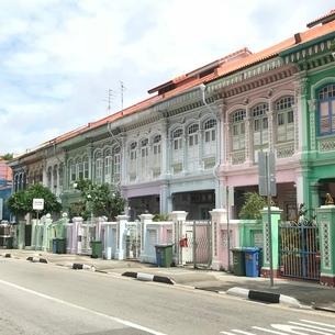 プラナカン建築 家 伝統的建築物 シンガポールの写真素材 [FYI03437131]
