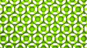 Green swim rings on green backgroundのイラスト素材 [FYI03437414]