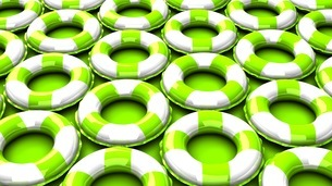 Green swim rings on green backgroundのイラスト素材 [FYI03437415]