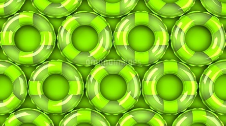 Green swim rings on green backgroundのイラスト素材 [FYI03437418]