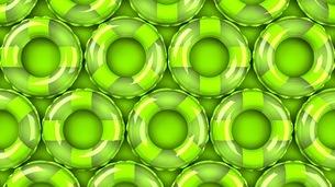 Green swim rings on green backgroundのイラスト素材 [FYI03437418]