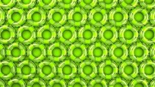 Green swim rings on green backgroundのイラスト素材 [FYI03437419]