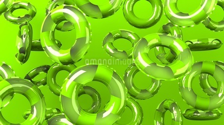 Green swim rings on green backgroundのイラスト素材 [FYI03437421]