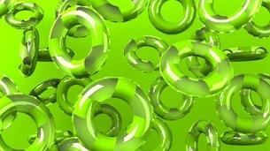 Green swim rings on green backgroundのイラスト素材 [FYI03437421]