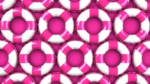 Pink swim rings on pink backgroundのイラスト素材 [FYI03437423]