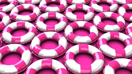 Pink swim rings on pink backgroundのイラスト素材 [FYI03437425]
