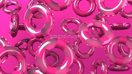 Pink swim rings on pink backgroundのイラスト素材 [FYI03437431]