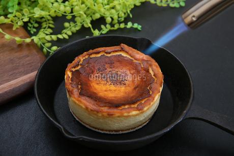 バスクチーズケーキの写真素材 [FYI03437581]