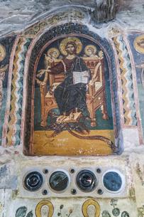 メガロ・メテオロン修道院キリストの壁画の写真素材 [FYI03438108]