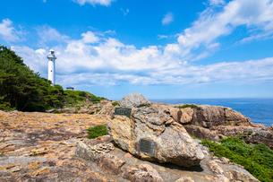 本州最東端の碑と魹ヶ埼灯台の写真素材 [FYI03438258]