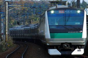 相鉄線に乗り入れた埼京線E233系の写真素材 [FYI03438333]