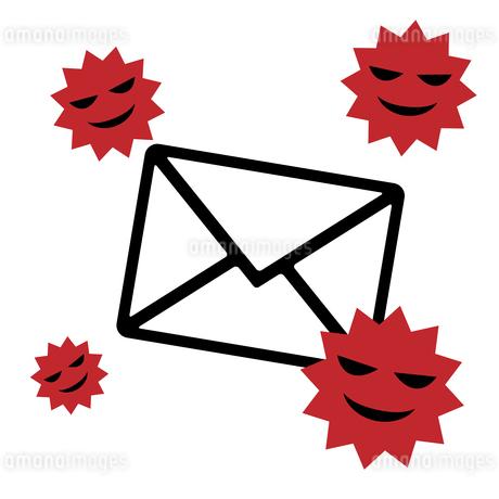迷惑メール、ウイルススパム、アイコンイラスト素材のイラスト素材 [FYI03438609]