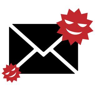 迷惑メール、ウイルススパム、アイコンイラスト素材のイラスト素材 [FYI03438610]