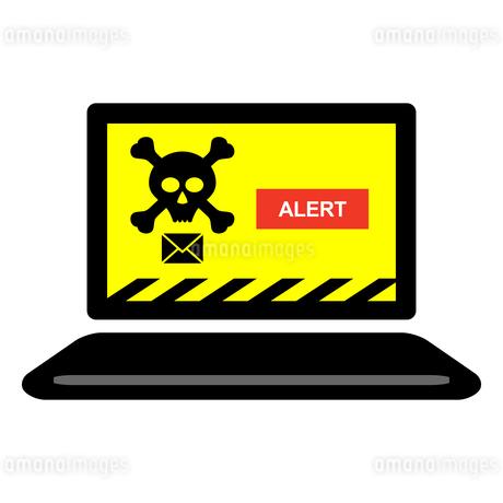 パソコン迷惑メール、ウイルススパム、アイコンイラスト素材のイラスト素材 [FYI03438615]
