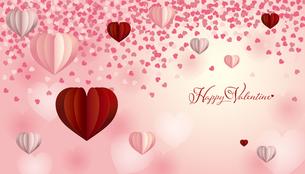 バレンタイン ハート 背景のイラスト素材 [FYI03438618]